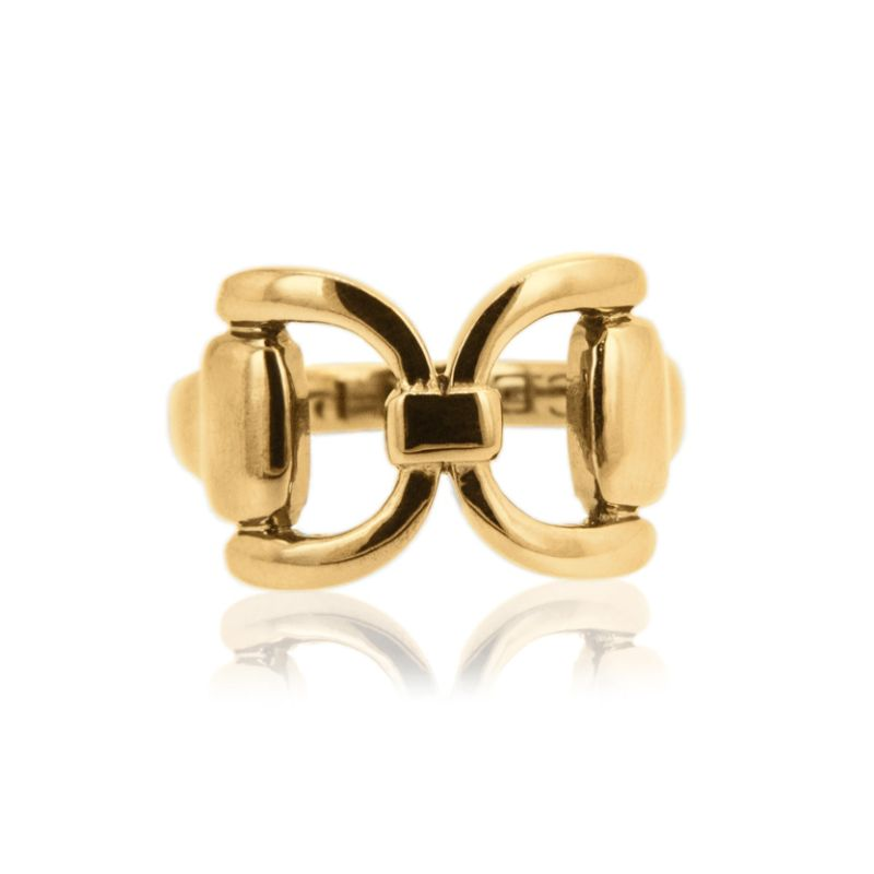 Vincent Peach Gold Tied Bit Ring
